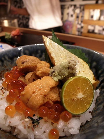 游壽司 海膽鮭魚卵丼