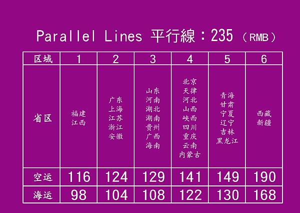 中國-PL-運費