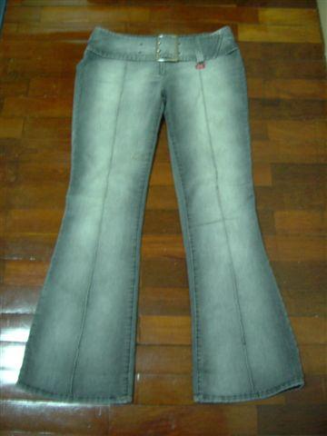 miss sixty灰色刷白喇叭褲
