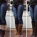 長中短靴比較(搭七分褲)