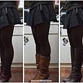 長中短靴比較(搭短裙+褲襪)