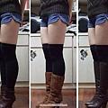 長中短靴比較(搭短褲+大腿襪)