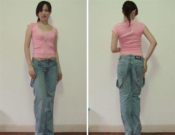 CHU XXX淺藍吊帶寬褲