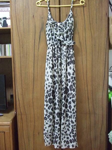 Loca豹紋雪紡長洋裝