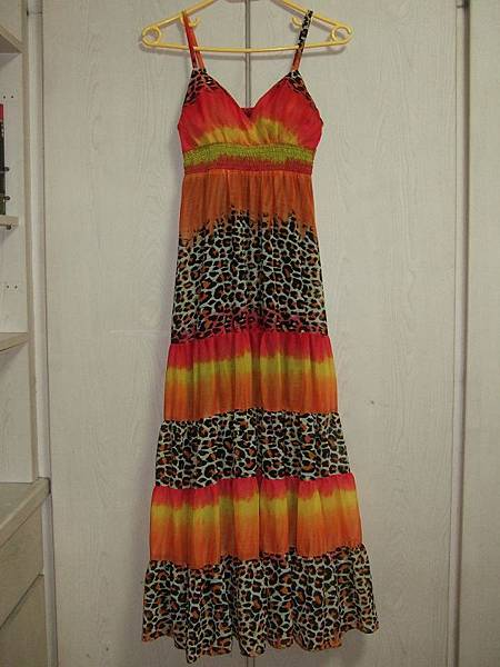 火焰豹紋長洋裝