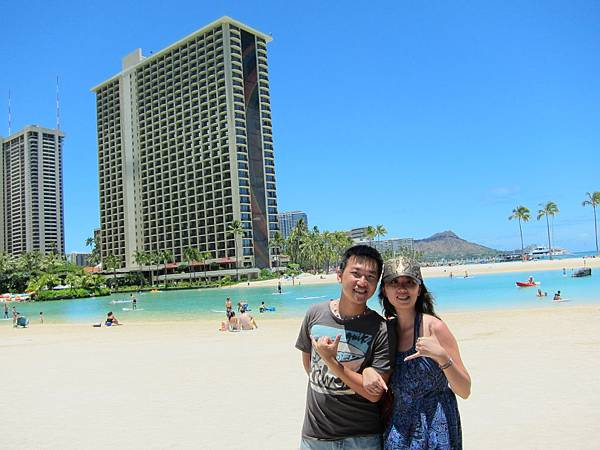 120610 Hilton hotel前方海灘