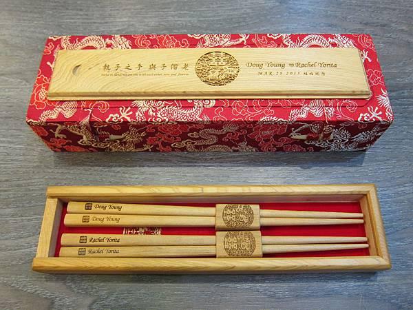 烏徠台灣檜木 - 福祿鴛鴦筷 (5)
