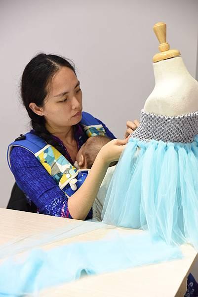 180131 Angel Nina 紗裙禮服DIY (3)