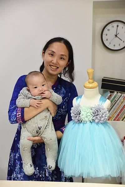 180131 Angel Nina 紗裙禮服DIY (4)