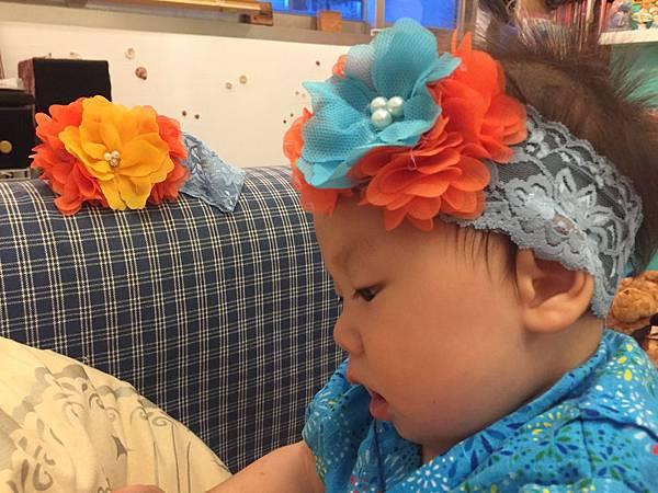 寶寶蕾絲髮帶DIY (8)