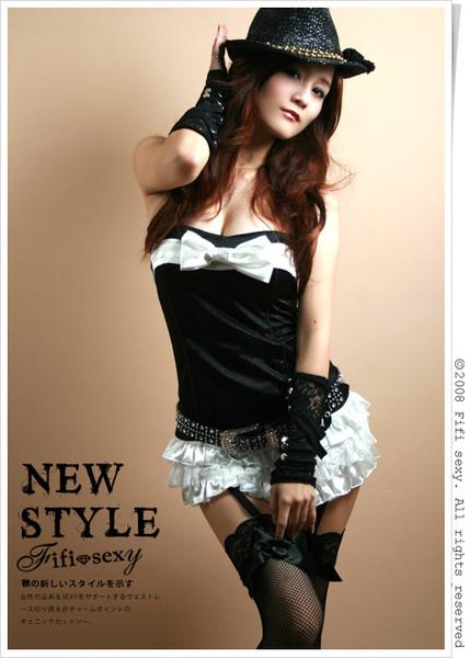 Fifi sexy韓國蕾絲拼接多層次卯釘麂皮袖套