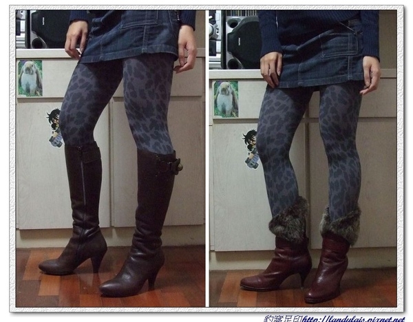 灰色大豹實穿VS長靴&中靴