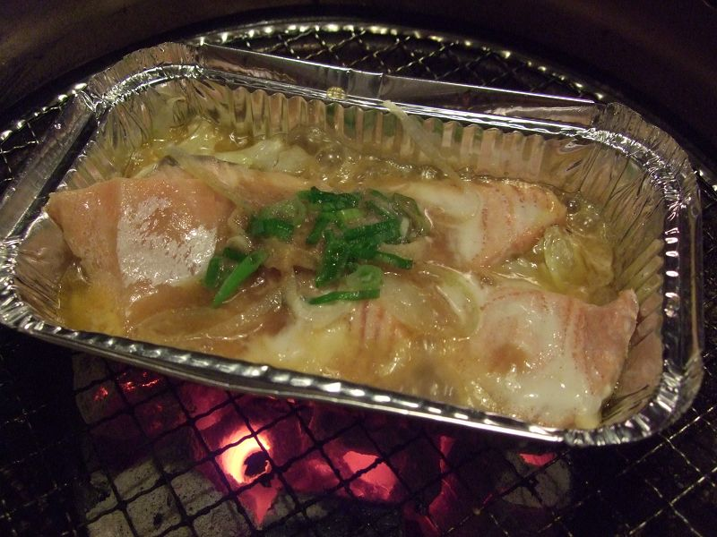 110219乾杯本店-北海道鮭魚燒