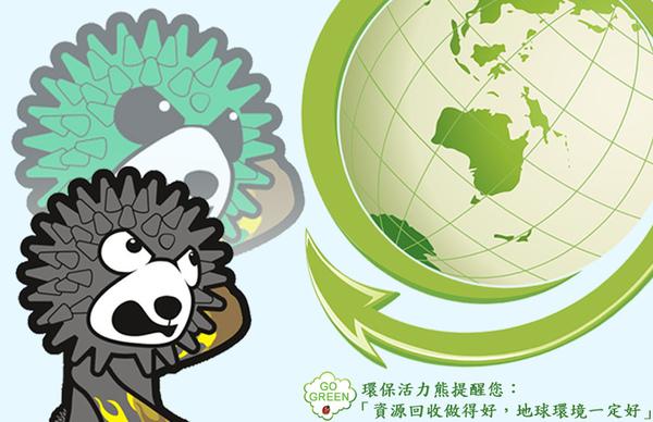 10.環保活力熊對抗地球暖化