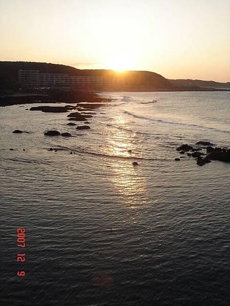 三芝海邊的夕陽