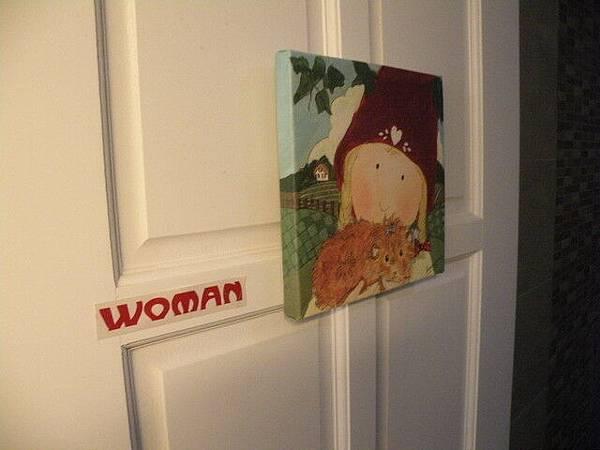 可愛的廁所門