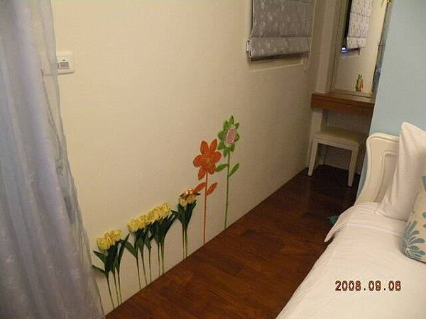 牆邊有裝飾