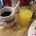 紅茶&小杯柳橙