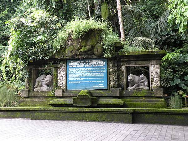 猴子森林門口
