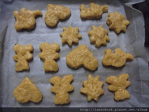 造型餅乾的半成品