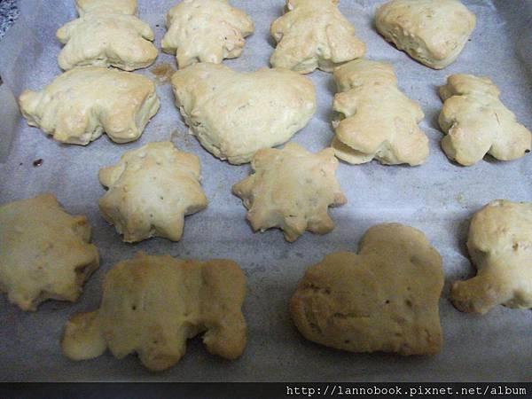 造型餅乾的成品