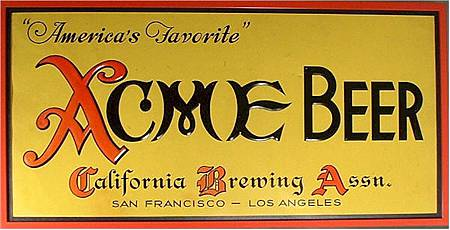 Acme beer sign