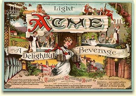 Acme label  c.1924