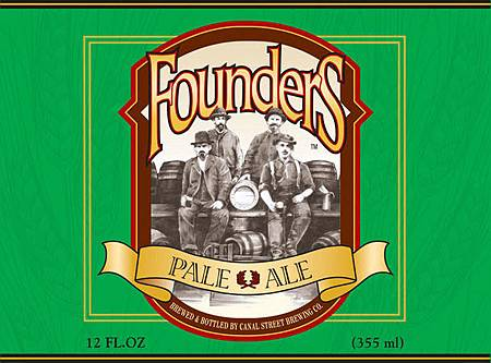 Canal Street Brewing Co - Founders Beer Label - Pale Ale