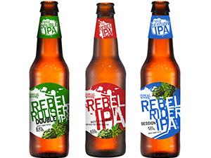 "Rebel IPA家族的早期成員:社交型IPA ""Rebel Rider""、Double IPA ""Rebel Rouser"""