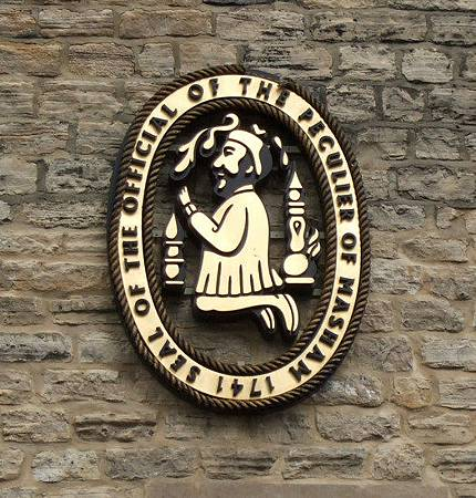 Official Seal of Old Peculier on Theakstons Wall
