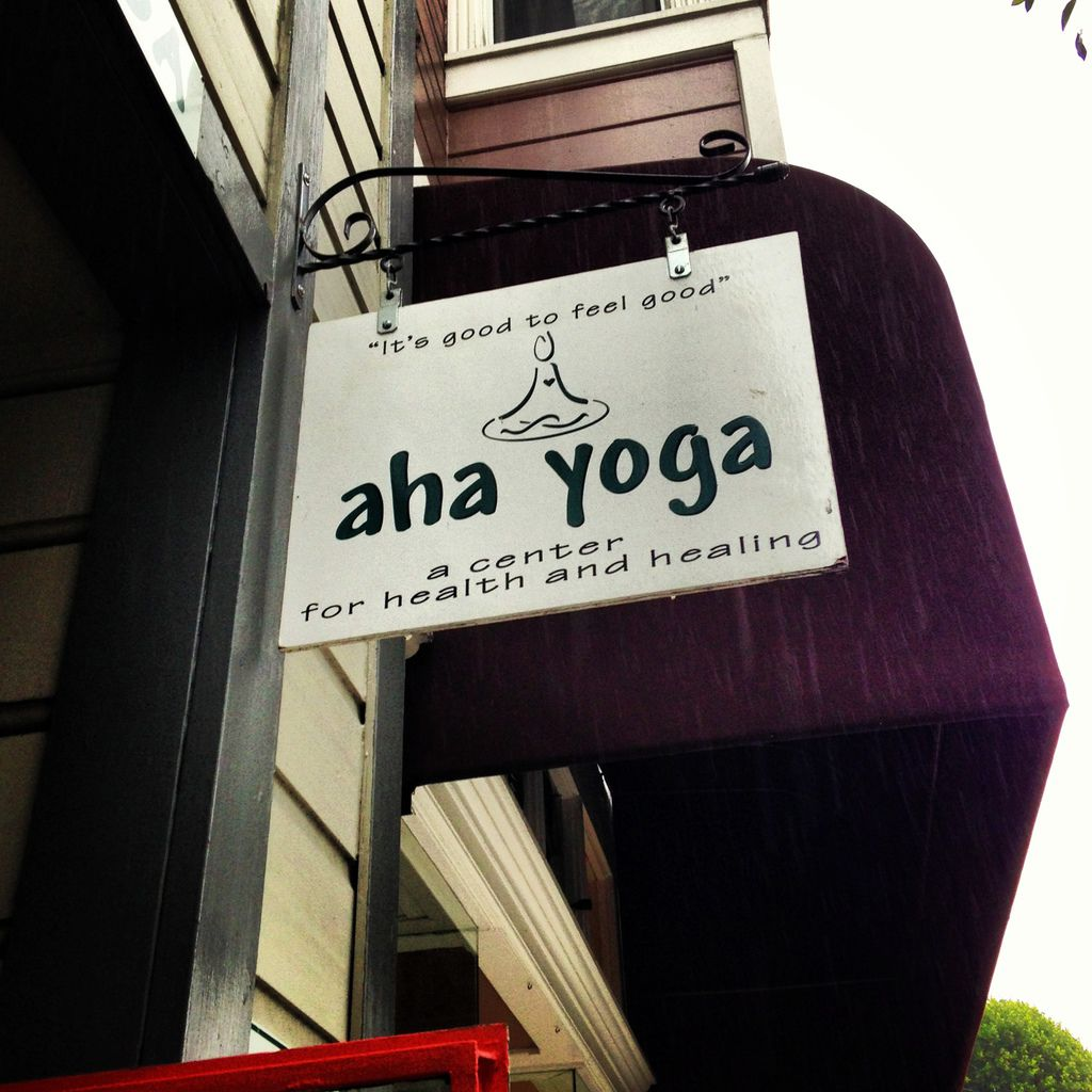 Aho Yoga Studio sign