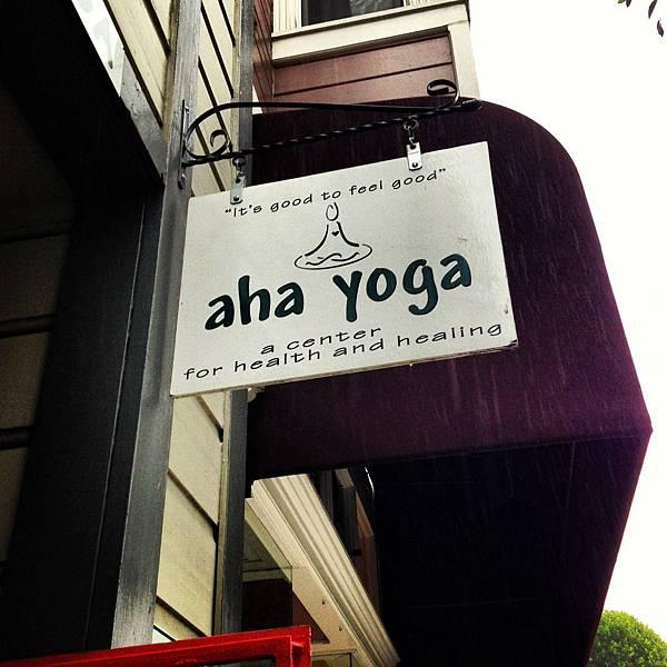 Aho Yoga Studio sign
