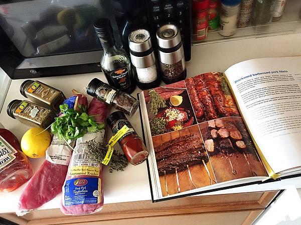 Blackened barbecue pork fillets