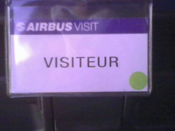 空中巴士參觀證