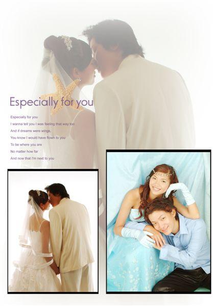 白紗 & 淺藍色晚禮服