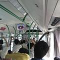 杭州新的公交車,又新又乾淨還有冷氣,坐好久才2塊人民幣