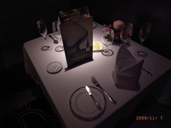 當晚桌面擺設