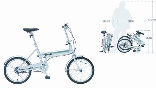 MUJI白色折疊腳踏車