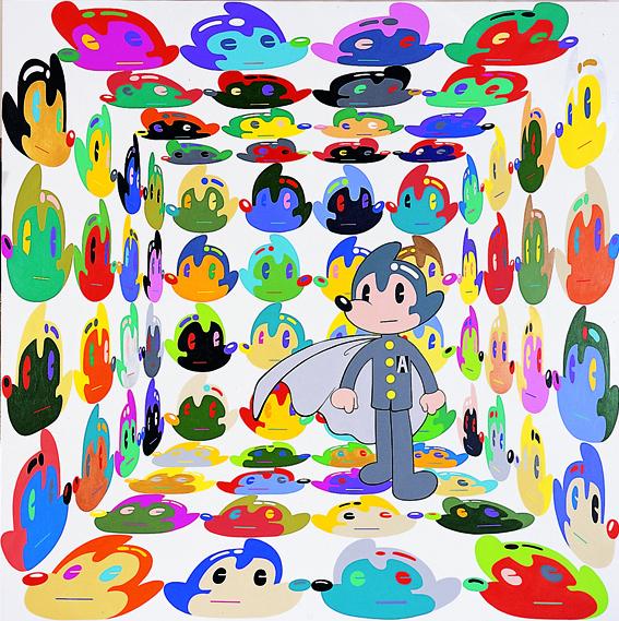 가상정신병 Virtual Insanity_190x190cm_2004.jpg