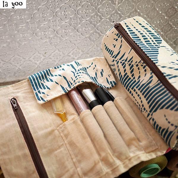 萬花筒夏威夷藍筆刷袋覆蓋