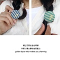 【馬卡龍】繽紛布包扣髮束/髮圈Macaron cloth buckle hair ring
