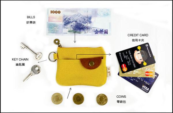 [口袋包!]三用卡夾零錢包