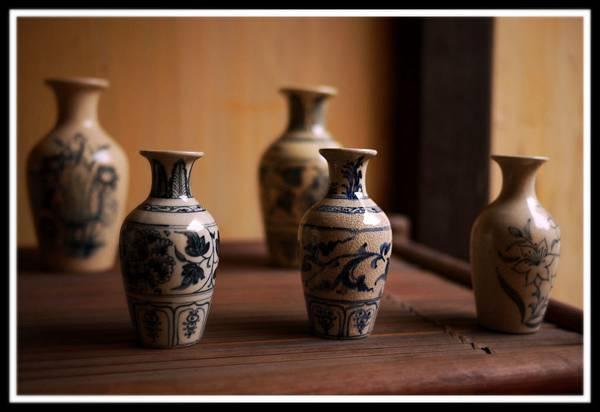 老青花瓷器