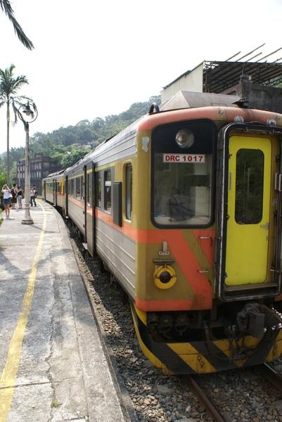 火車抵達菁桐車站