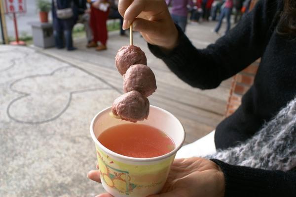 傳說中的草莓貢丸湯!!