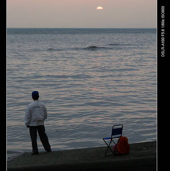 老人與夕陽