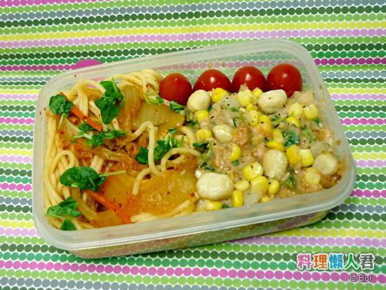 Bor20120711_韓式泡菜義大利麵佐田園香草薯泥_550
