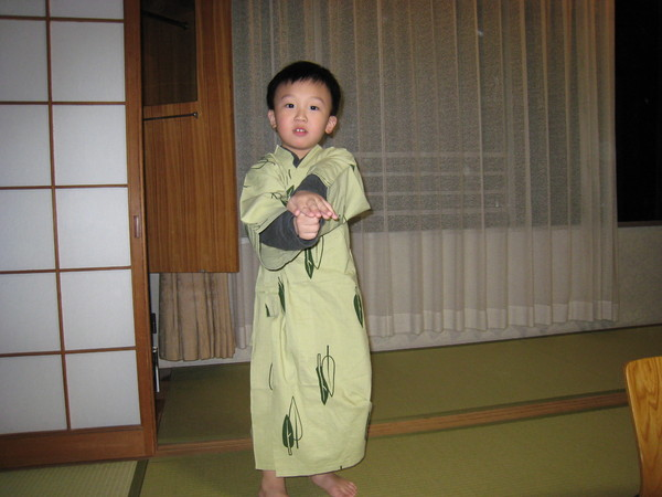 在別府杉乃井溫泉渡假飯店穿浴服