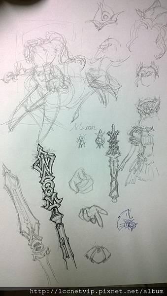 2.權杖設計草圖