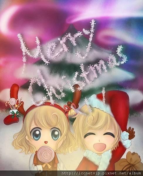 作品2.小兄妹祝大家Merry Christmas